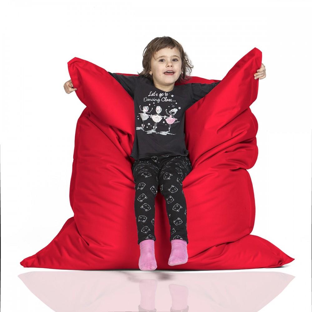 CrazyShop Sedací vak KIDS, červený
