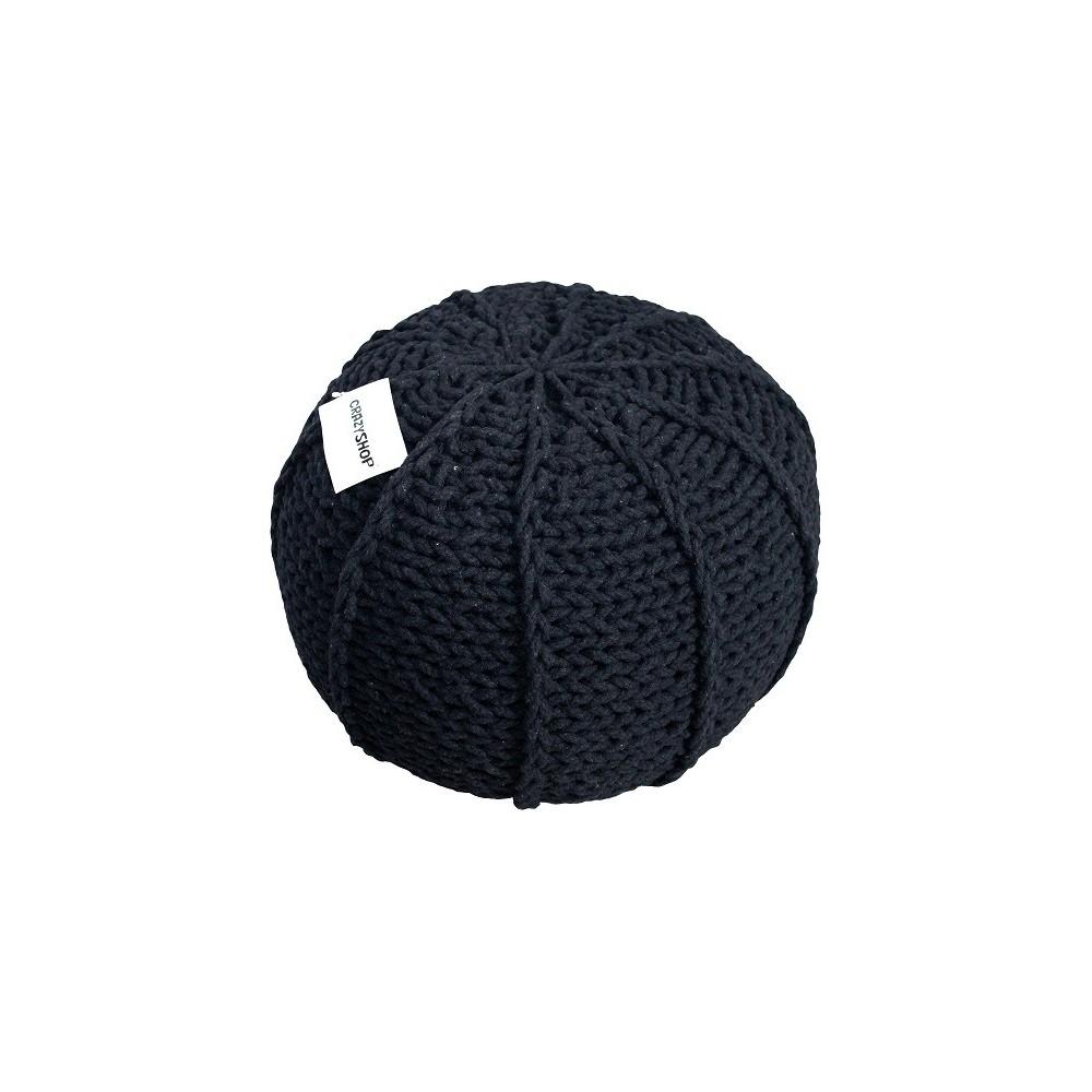 Pletený puf CRAZYSHOP MELON, béžový (ručne pletený)