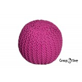 CrazyShop pletený PUF SOLID MINI, ružová