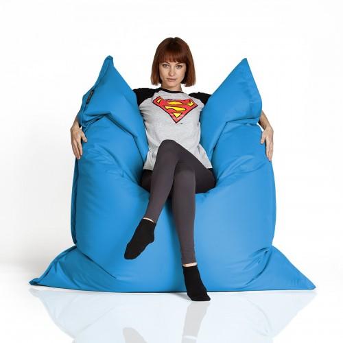 CrazyShop Sedací vak Standard 144×180 cm, modrý